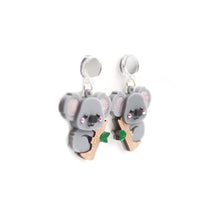 Load image into Gallery viewer, Koala Dangle Earrings