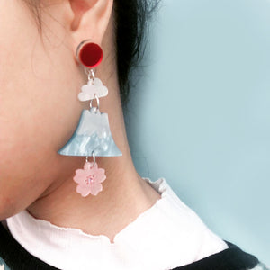 Mount Fuji Earrings