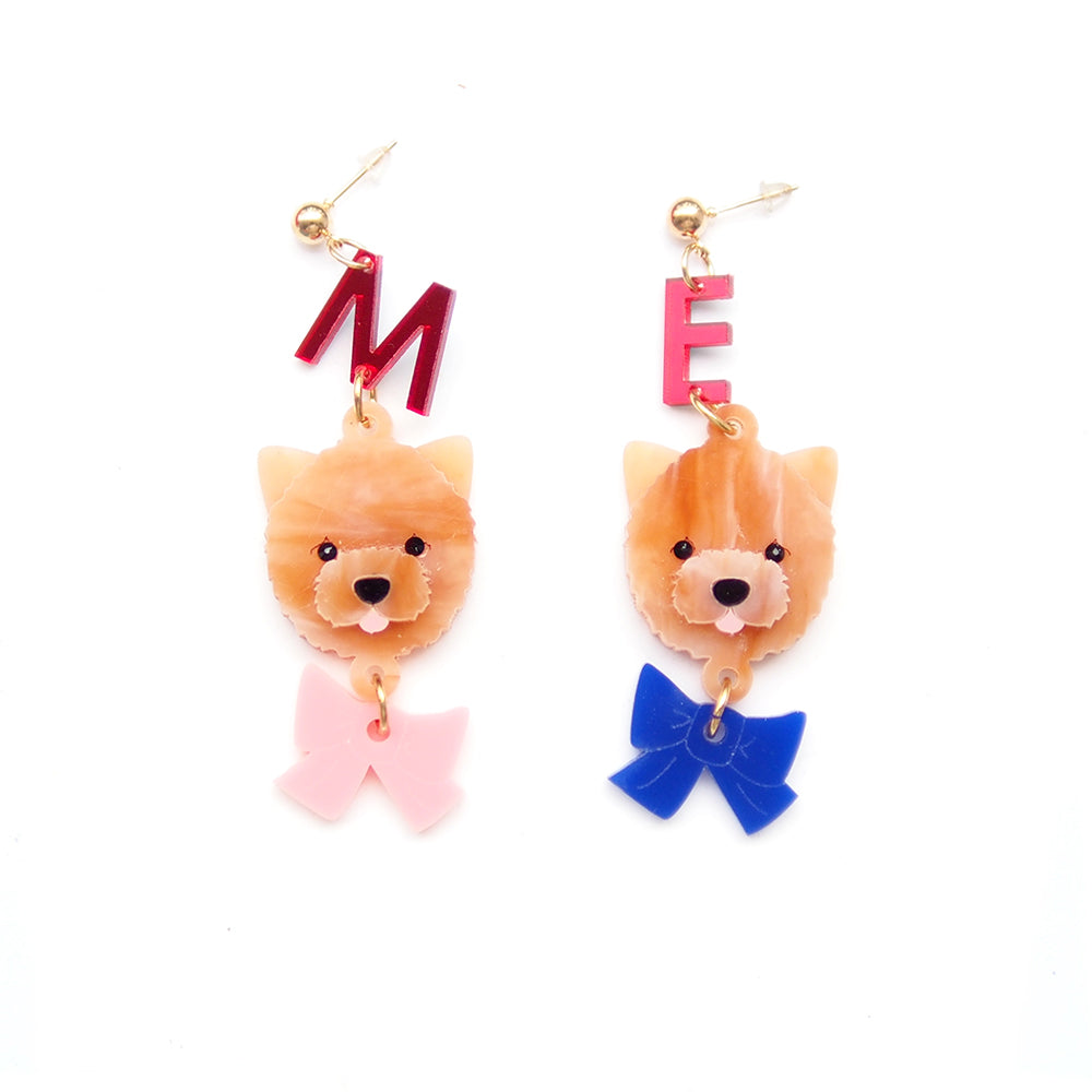 ChowChow Head Dangle Earrings