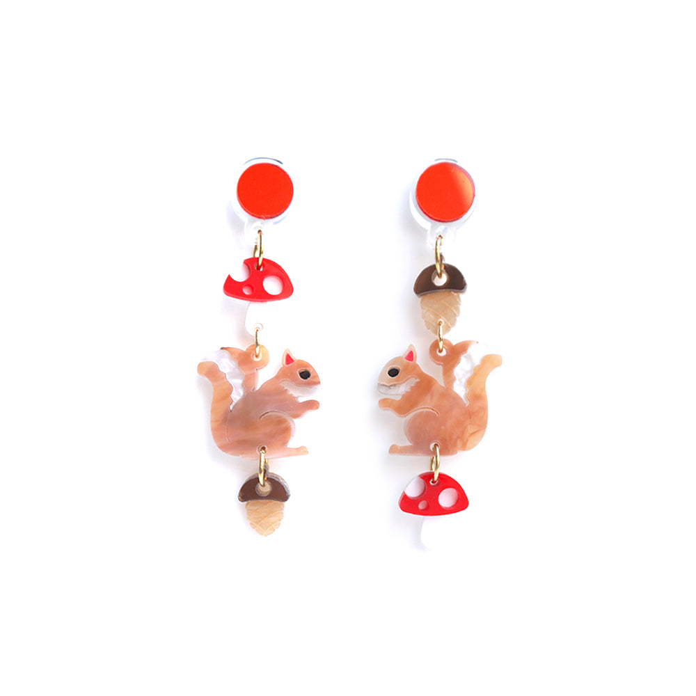 Squirrel Dangle Earrings