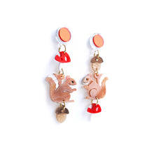 Load image into Gallery viewer, Squirrel Dangle Earrings