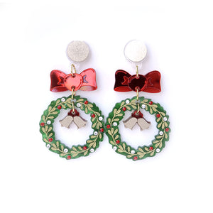 Xmas Wreath Earrings
