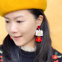 Load image into Gallery viewer, Dance Lion Earrings