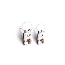 Load image into Gallery viewer, Lucky Cat Hoop Earrings