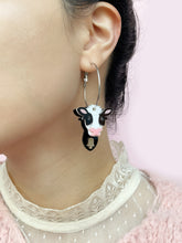 Load image into Gallery viewer, 3D Cow Hoop Earrings (many ways)