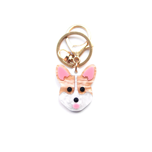 Corgi Keychain/ Dog Tag