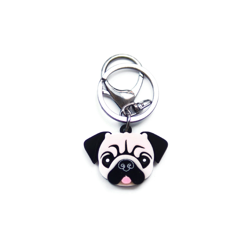 Pug Keychain/ Dog Tag