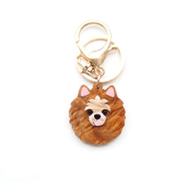 Load image into Gallery viewer, Pomeranian Keychain/ Dog Tag