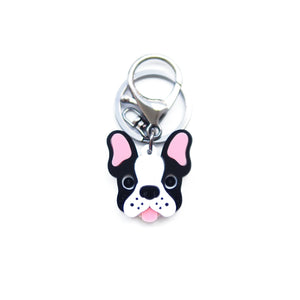 Frenchie Keychain/ Dog Tag