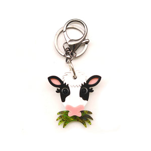 Grass Eating Cow Keychain (Playable)