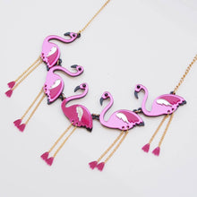 Load image into Gallery viewer, Flamingo Statement Necklace