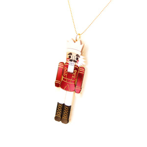 Nutcracker Pendant - Red