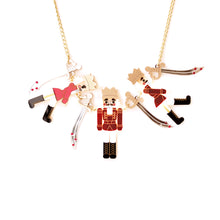 Load image into Gallery viewer, Nutcracker Statement Necklace - Red