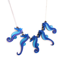Load image into Gallery viewer, Seahorse Statement Necklace
