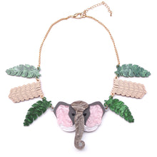 Load image into Gallery viewer, Elephant Statement Necklace