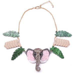 Elephant Statement Necklace