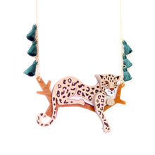 Load image into Gallery viewer, Leopard Statement Necklace