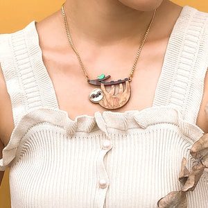 Sloth Pendant Necklace