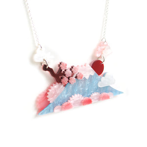 Mount Fuji Statement Necklace