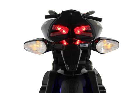 Image of Ducati Style Kids Motorcycle with LED Wheels Electric Ride on Bike 12V | Black