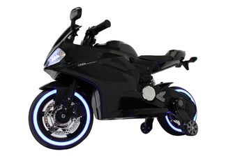 Ducati Style Kids Motorcycle with LED Wheels Electric Ride on Bike 12V | Black
