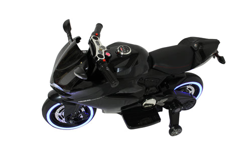Image of Ducati Kids Motorcycle with LED Wheels Electric Ride on Bike 12V | Black