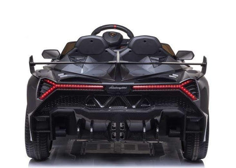 Image of 2021 Licensed Lamborghini Veneno Exotic Kids Car with Bluetooth | Charcoal with CF Accents - Elegant Electronix