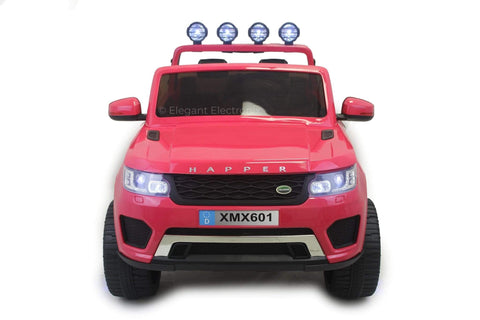 Image of 4x4 Land Rover with Touch Screen RC Electric Ride on Car with Parental Remote Control | Pink - Elegant Electronix