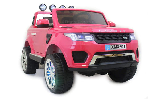 4x4 Land Rover with Touch Screen RC Electric Ride on Car with Parental Remote Control | Pink - Elegant Electronix