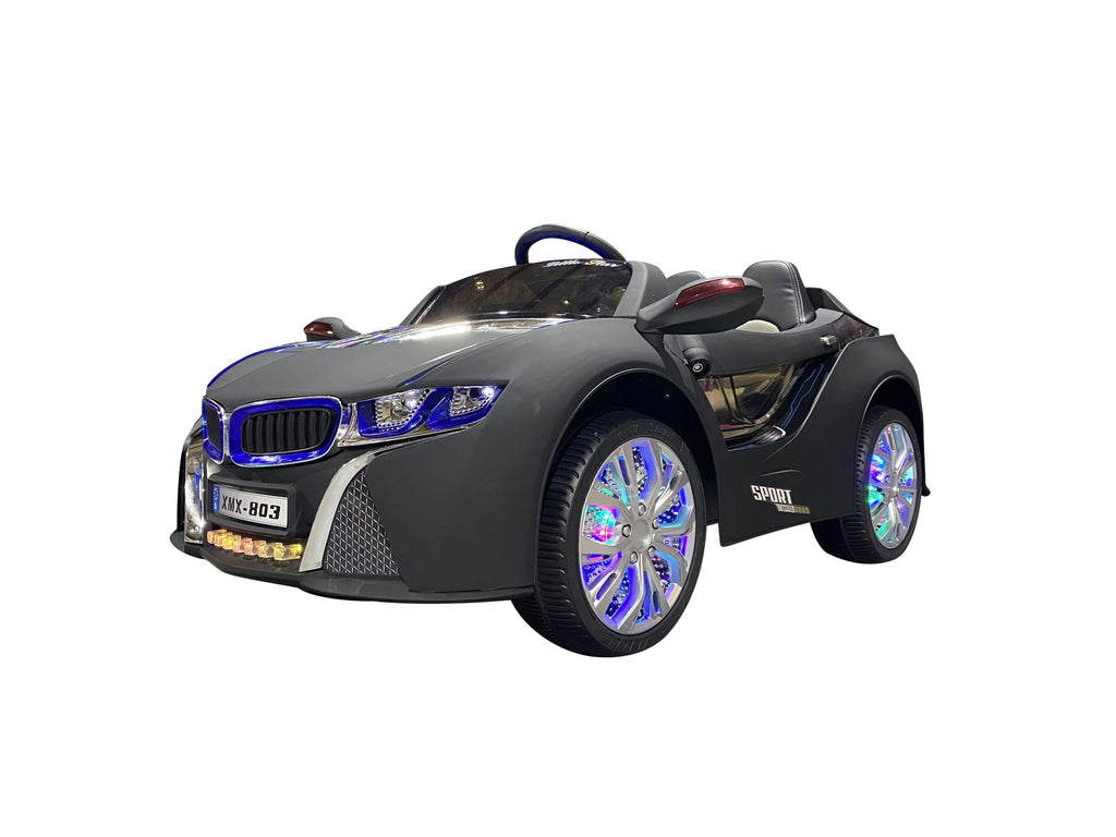 Matte Black | Baby Beamer Kids Car with Touch Screen TV and Lambo Doors