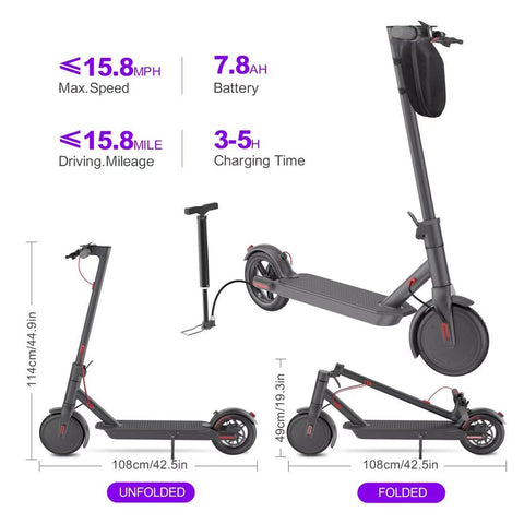 Innova 350W Folding Electric Scooter | Charcoal