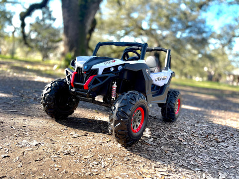 Image of 4x4 Off-Road Kids Buggy UTV with Touchscreen TV and EVA Wheels