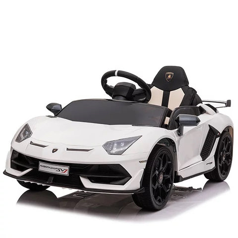 Image of Lamborghini Aventador Kids Car with Parental Remote