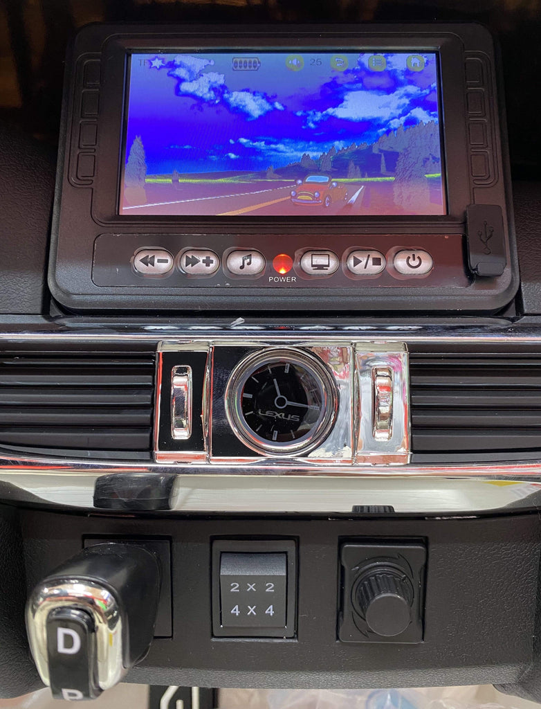Licensed Lexus LX570 with Touchscreen TV and Parental Remote | Jet Black