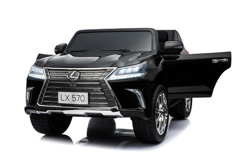 Image of Licensed Lexus LX570 with Touchscreen TV and Parental Remote | Jet Black
