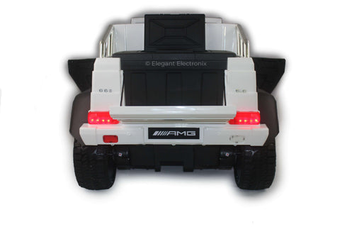(Pickup Only) Licensed Mercedes Benz AMG G63 6x6 Truck with Parental Remote Control | White