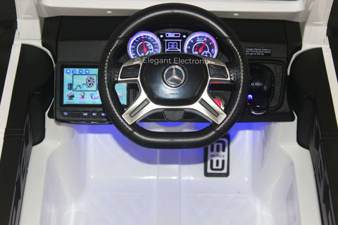 (NEW MODEL) Licensed Mercedes Benz AMG G63 6x6 Truck with Parental Remote Control | White