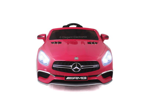 Image of Licensed Metallic Mercedes AMG with MP3 System and Remote Control 12V | Hot Pink