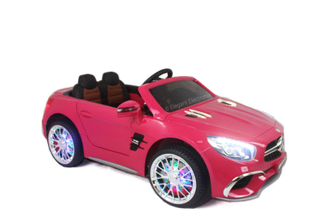 Image of Licensed Metallic Mercedes AMG with MP3 System and Remote Control 12V | Hot Pink - Kids car  Kids electric cars  Kids ride on toys  Kids ride on cars  Kids motorized cars  Toy cars for kids