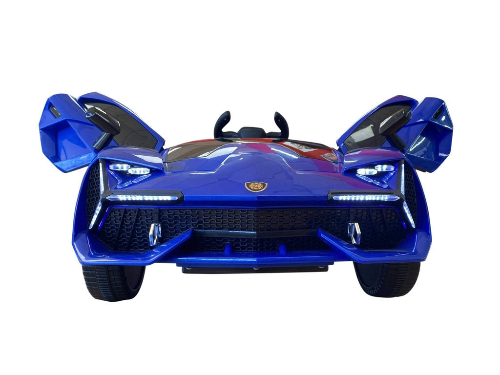 Lambo Style Ride on Car with Parental Remote Control 12V | Blue - Elegant Electronix