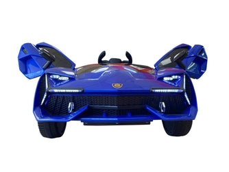 Lambo Style Ride on Car with Parental Remote Control 12V | Blue