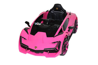 Lambo Style Ride on Car with Parental Remote Control 12V | Pink