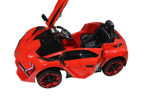 Image of Lambo Style Ride on Car with Parental Remote Control 12V | Red - Elegant Electronix