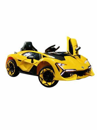 Lambo Style Ride on Car with Parental Remote Control 12V | Yellow