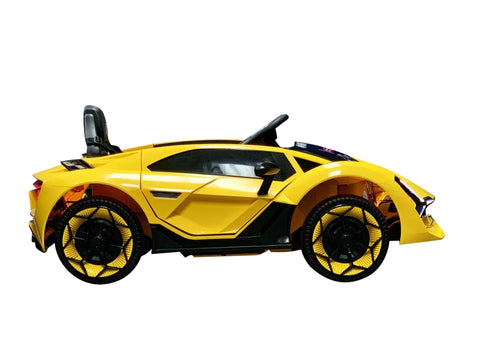 Image of Lambo Style Ride on Car with Parental Remote Control 12V | Yellow - Elegant Electronix