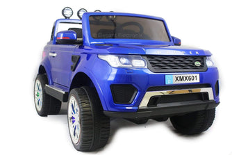 Land Rover with Touch Screen RC Electric Ride on Car with Parental Remote Control | Blue - Elegant Electronix