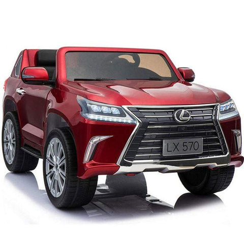 Image of Licensed Lexus LX570 with Touchscreen TV and Parental Remote | Candy Apple Red - Elegant Electronix