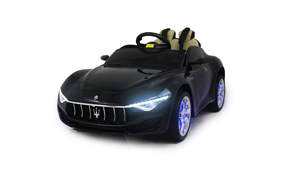 Licensed Maserati with Touchscreen TV RC Electric Ride on Car with Parental Remote Control 12V | Black - Elegant Electronix