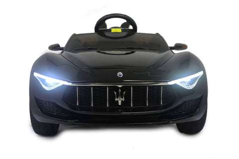 Image of Licensed Maserati with Touchscreen TV RC Electric Ride on Car with Parental Remote Control 12V | Black - Elegant Electronix