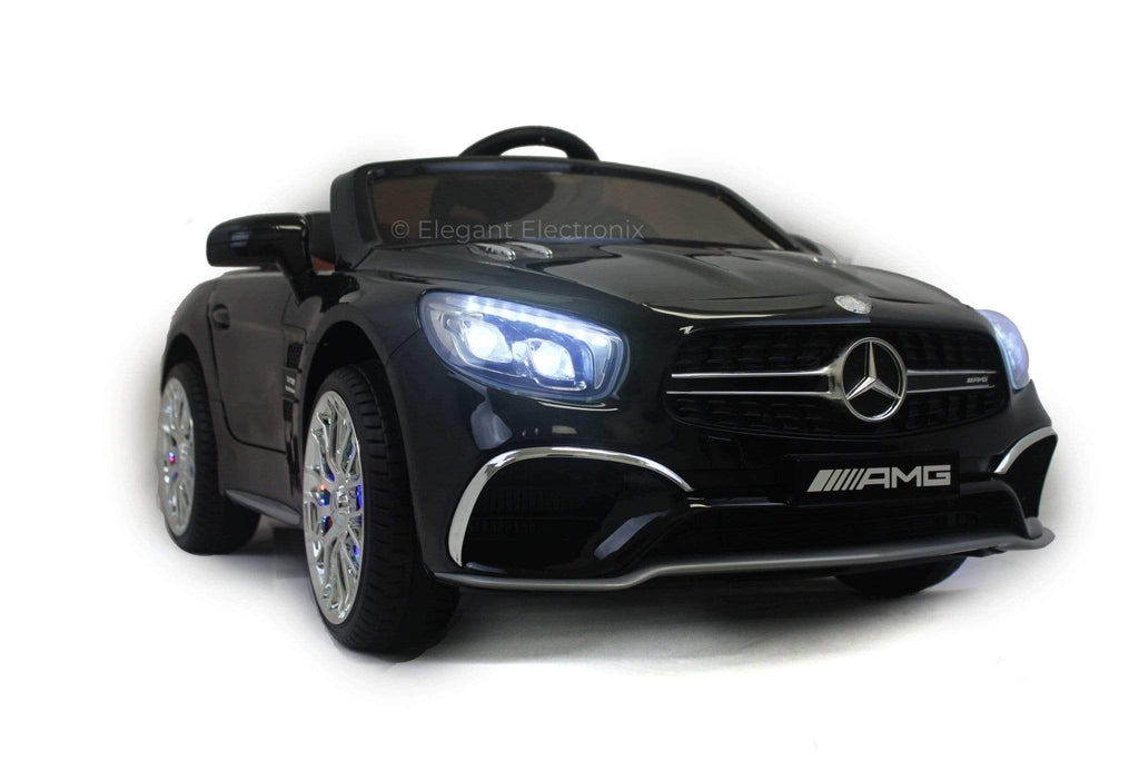 Licensed Mercedes AMG with Touchscreen TV and Remote Control 12V | Black - Elegant Electronix